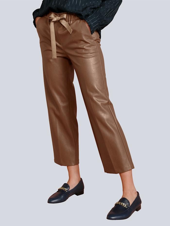 CAMBIO Hose in modischer Culotte Form, Cognac
