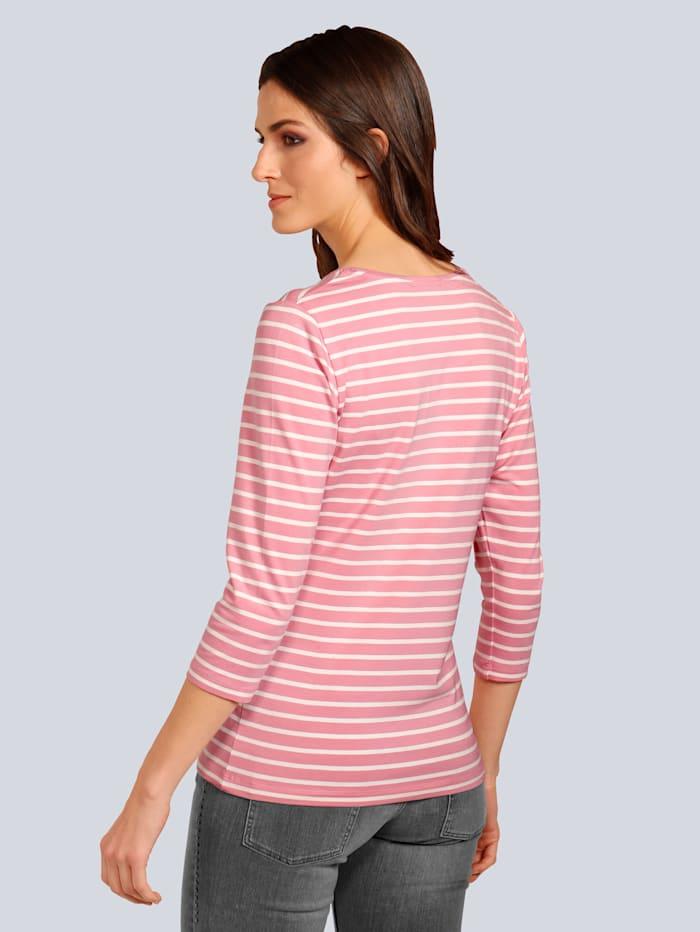 T-Shirt im modischen Streifendessin