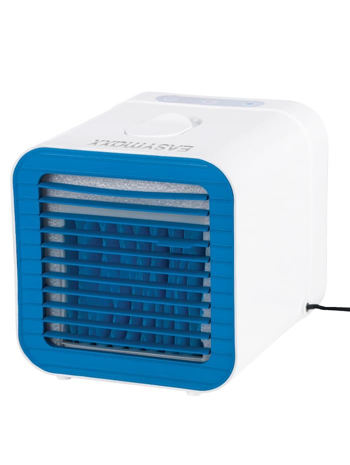 EASYmaxx Kompakter 2in1 Luftkühler mit Heizfunktion, Weiß/Rot/Blau