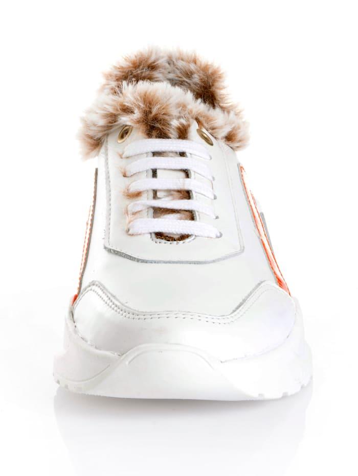 Sneaker aus Rindslackleder