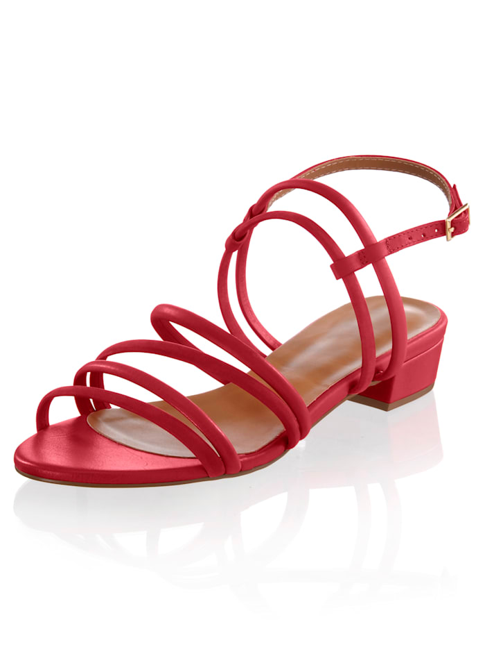 Sandalette mit modischer Riemchenlösung