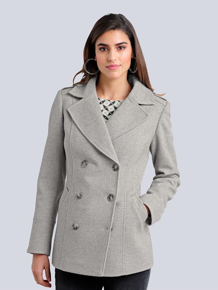 Alba Moda Jacke aus strukturierter Qualität, Hellgrau