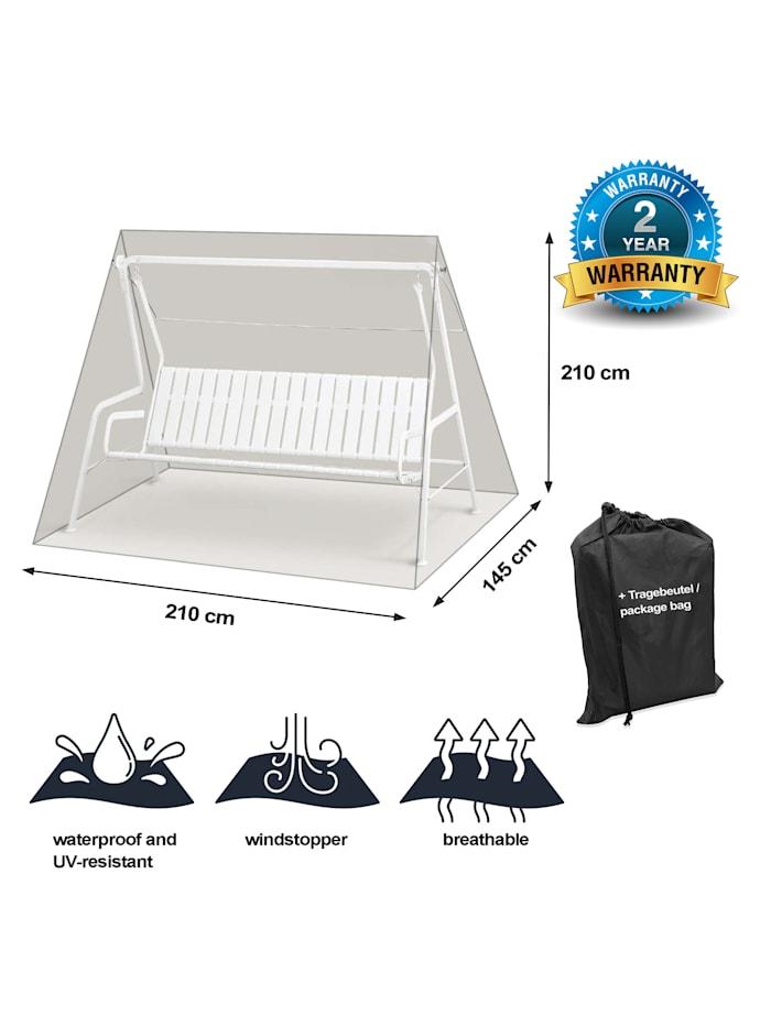 Black Premium Hollywoodschaukelhülle  180/210x145x210cm / swing cover /  atmungsaktiv / breathable