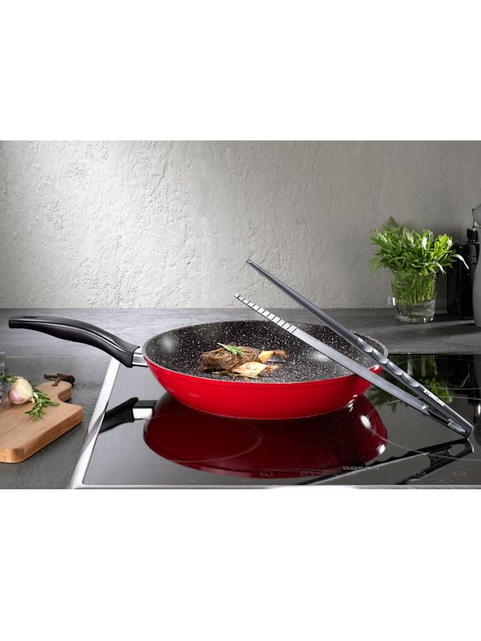 10tlg. STONELINE® Kochset - XXL-Pfanne mit Steakbesteck & Wendepinzette
