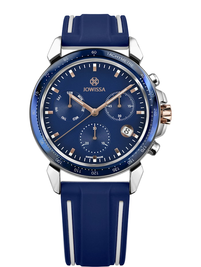 Jowissa Quarzuhr LeWy 9 Swiss Men's Watch, blau