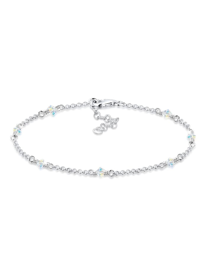 Elli Armband Klassiker Kristalle 925 Sterling Silber, Weiß