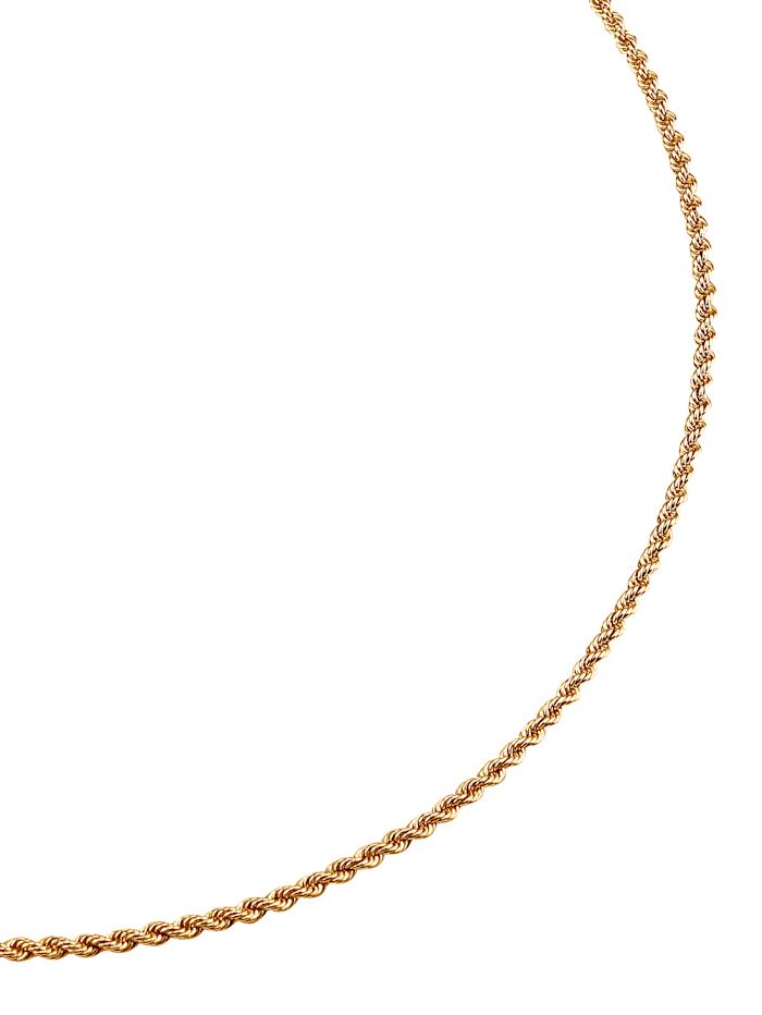 Kordelkette in Gelbgold, Gelbgoldfarben