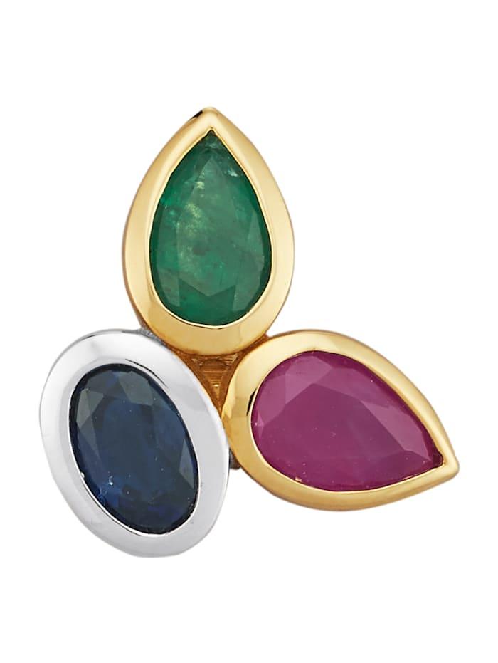 Amara Pierres colorées Pendentif avec pierres de couleur, Multicolore