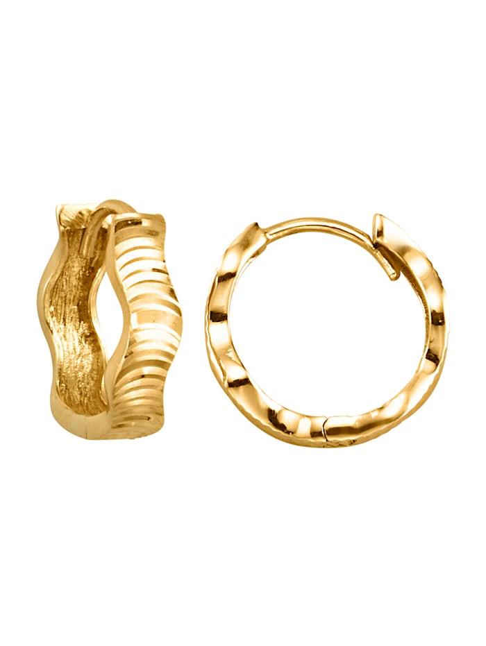 Örhängen av 9 k guld, Guldfärgad