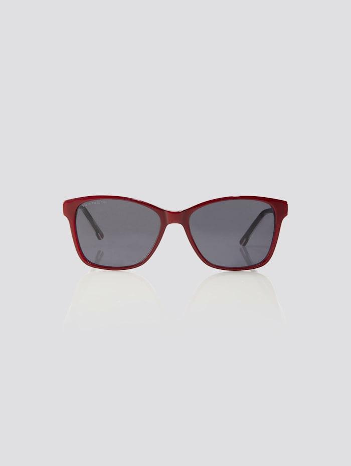 Tom Tailor Cat Eye Unisex-Kindersonnenbrille, dark red-pink