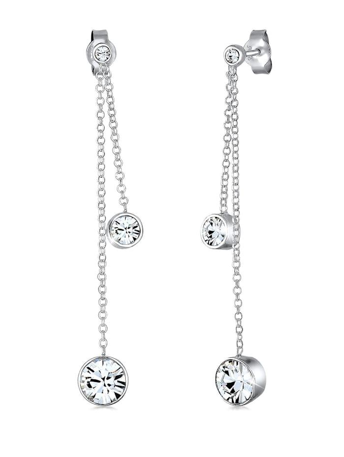 Elli Ohrringe Swarovski® Kristalle 925 Sterling Silber, Silber