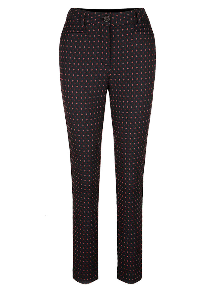 Trousers in chic jacquard