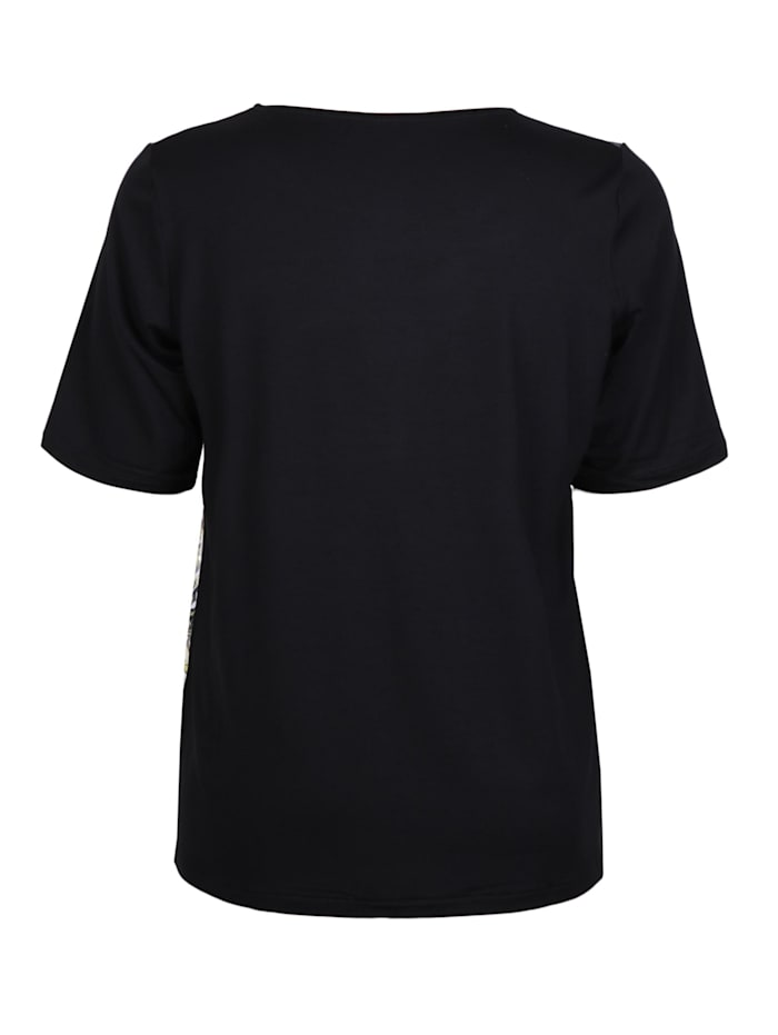 Shirt mit Materialmix .
