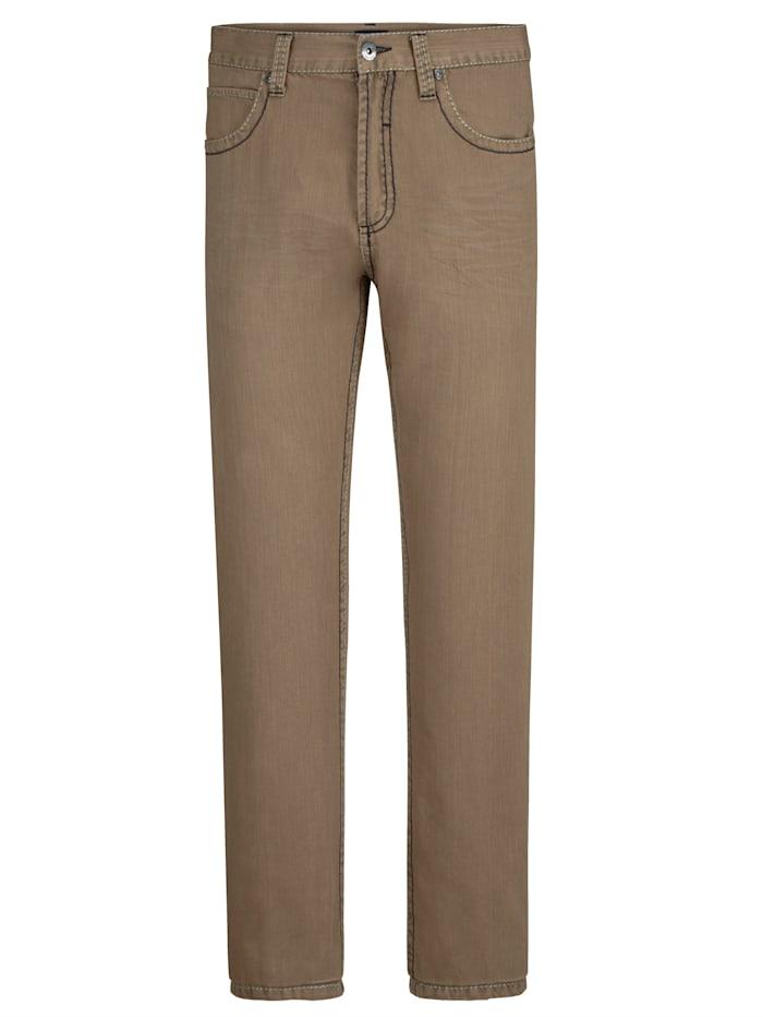 BABISTA Pantalon avec surpiqûres mode épaisses, Beige