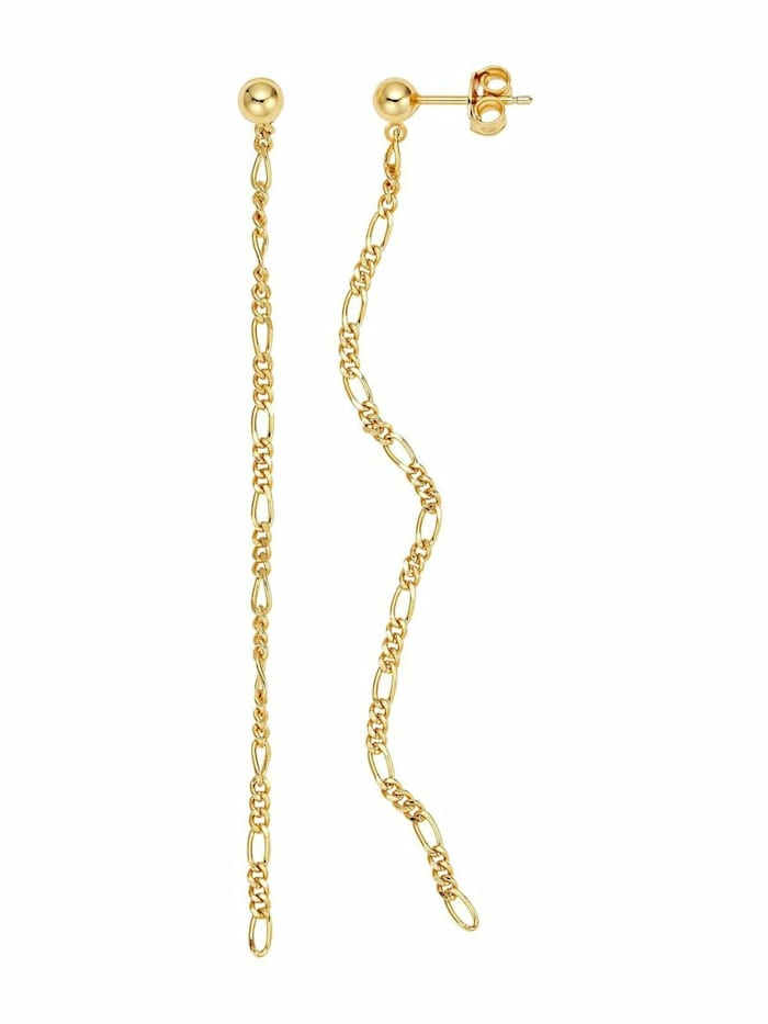 Noelani Ohrhänger für Damen, Sterling Silber 925, Figarogliederung, Gold