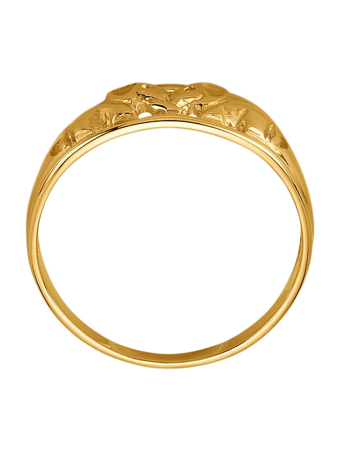Elefanten-Ring in Gelbgold 375