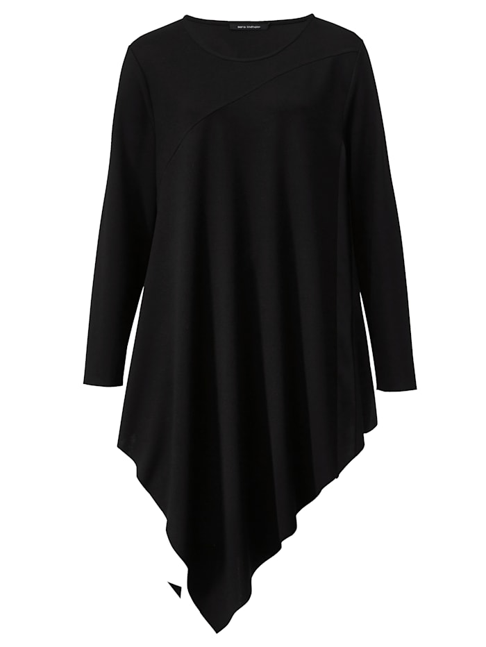 Longshirt in Zipfelform