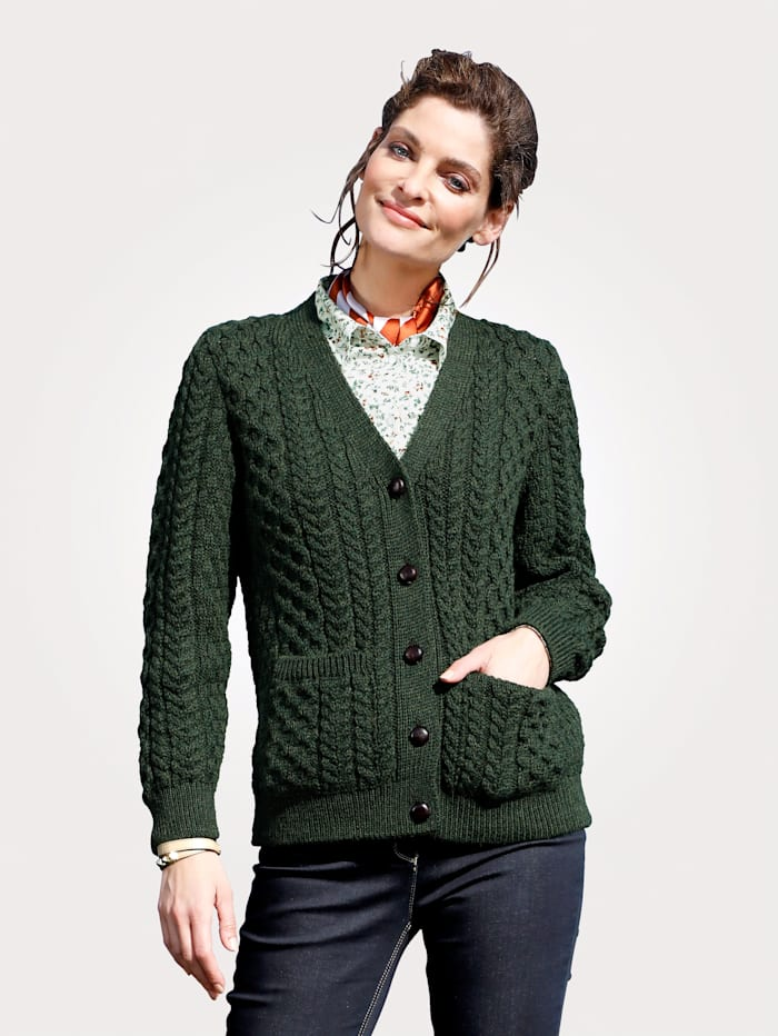 Strickjacke aus reiner British Wool