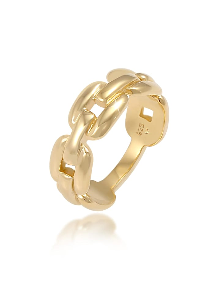 Elli Ring Glieder Oval Chain Look 925 Silber, Gold