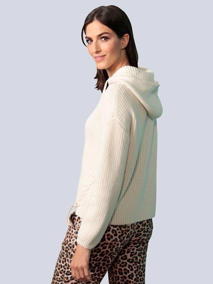 Pullover mit diagonalem Schnürungen