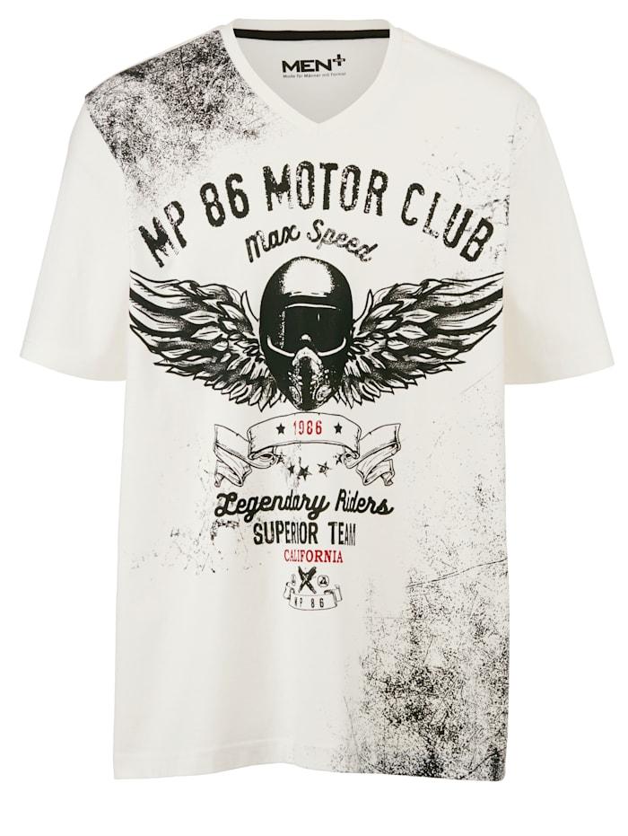 Men Plus V-Shirt, Wollweiß