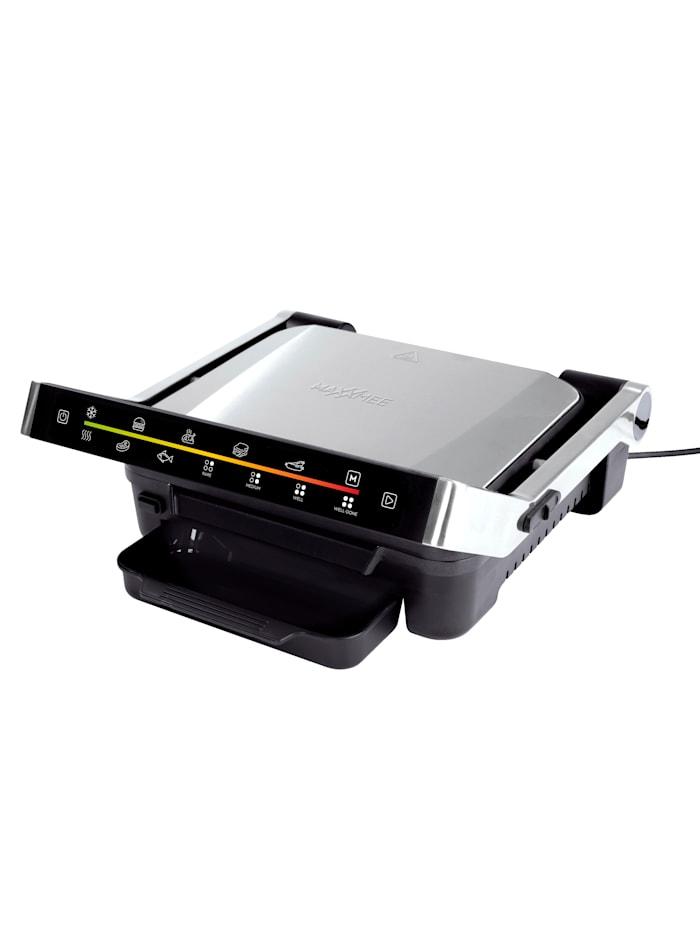 MAXXMEE Smart contact grill digital avec 6 programmes, 2000 watts, Gris argenté/noir
