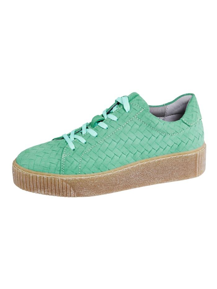 Liva Loop Sneaker in mooie gevlochten look, Mint