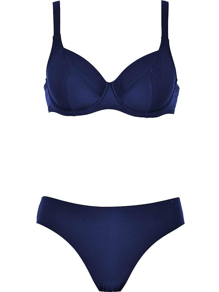 Naturana Bügel Bikini, dunkelblau