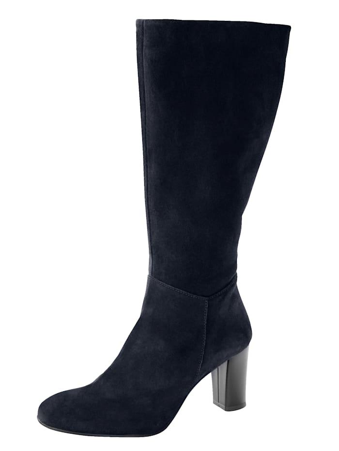 Stiefel aus feinem Veloursleder