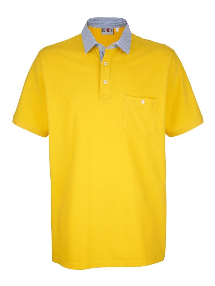 Roger Kent Poloshirt met contrasterende kraag, Geel