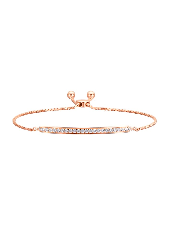 Bracelet à zirconia, Rose