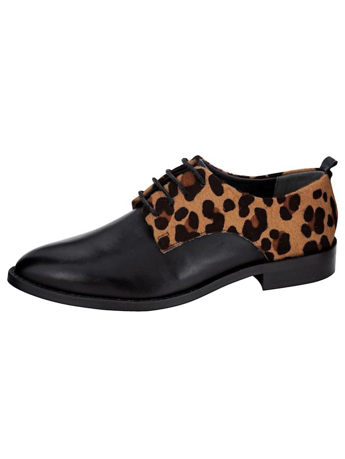 Filipe Shoes Veterschoen in klassieke en modieuze look, Zwart