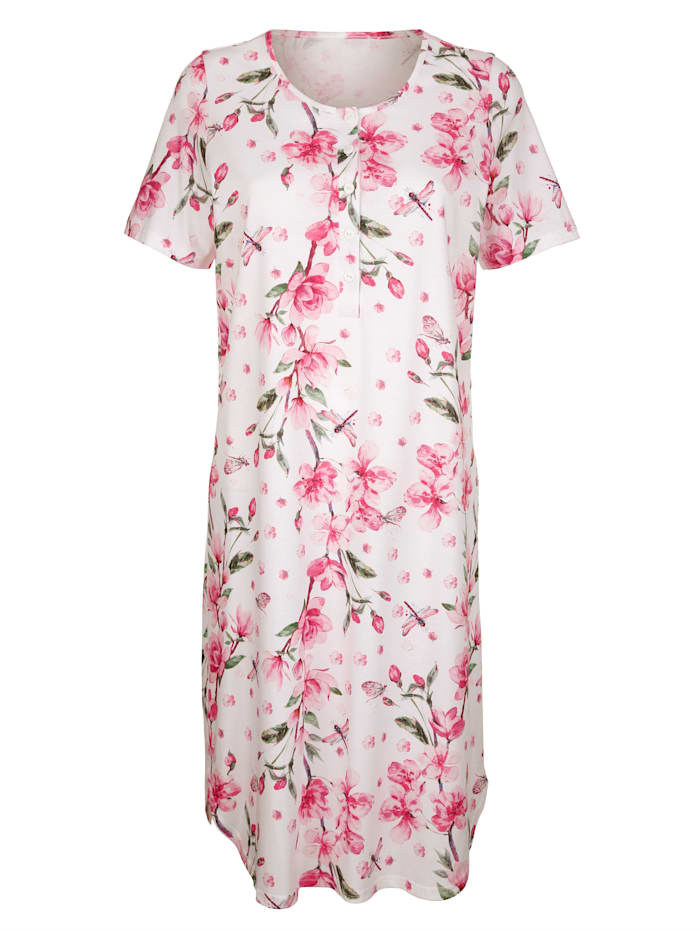 Nachthemden im 2er Pack mit floralem Digitaldruck