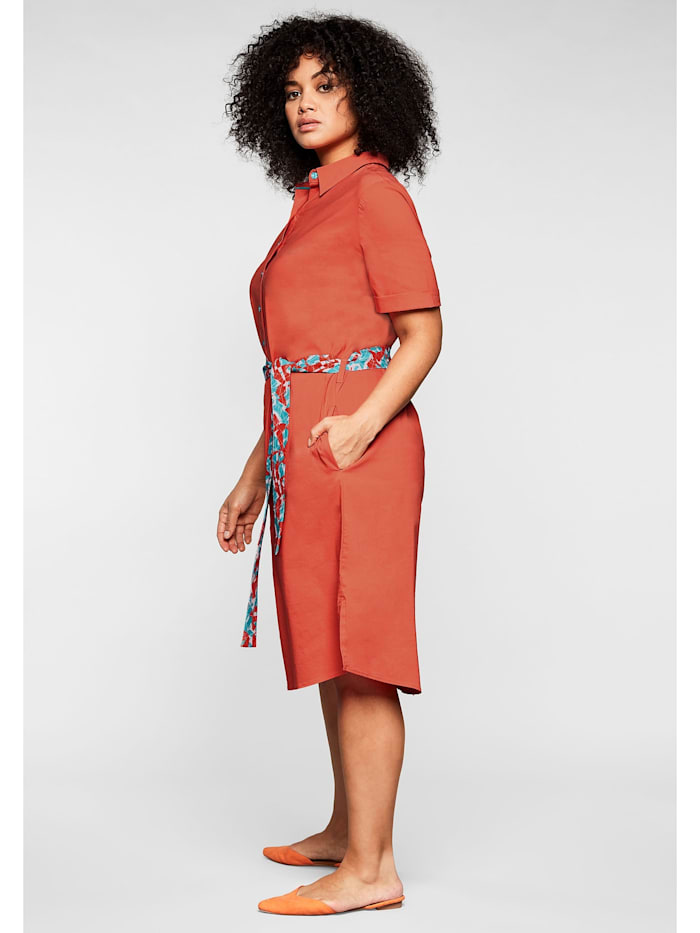 Sheego Hemdblusenkleid mit Knopfleiste und leichter A-Linie