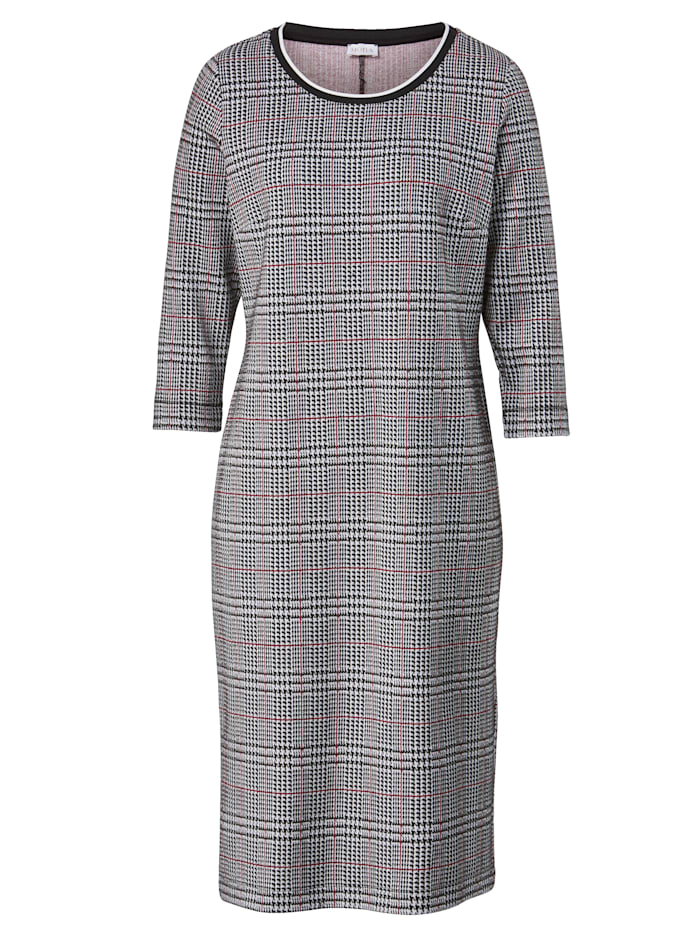 Jersey dress in a glen check pattern