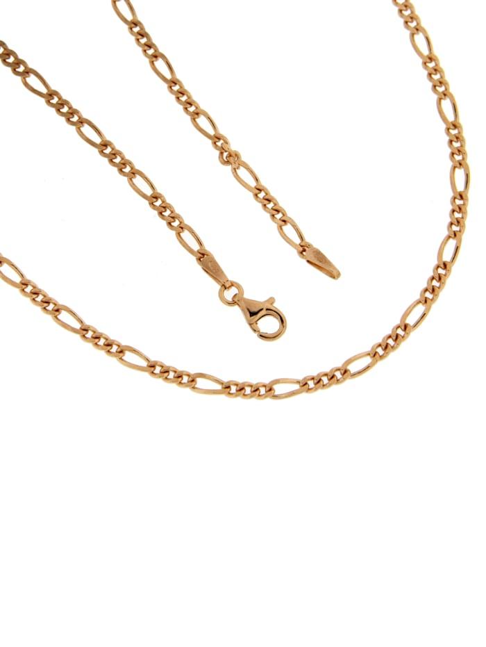 Grazielli Figaroarmband in Silber 925 rosé vergoldet, Rosé