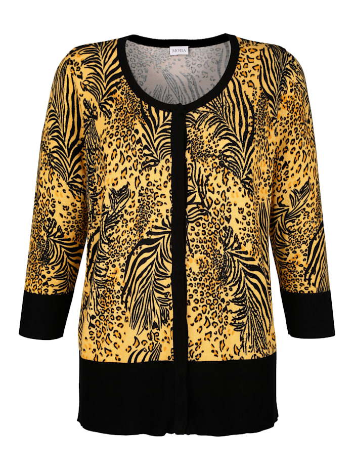 Strickjacke mit Animal Print