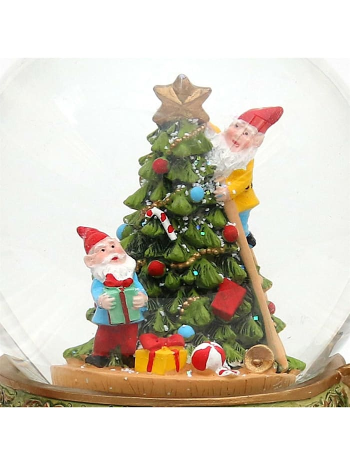 Sigro Schneekugel Santa am Kamin, Bunt
