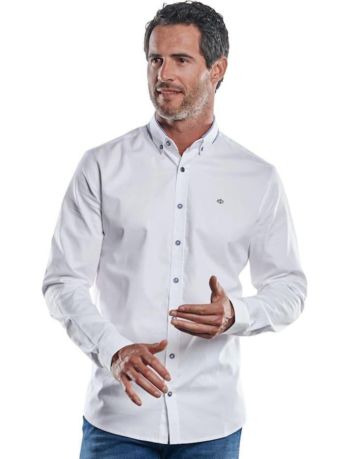Engbers Edles Langarmhemd mit festlichem Button-Down-Kragen, Reinweiss