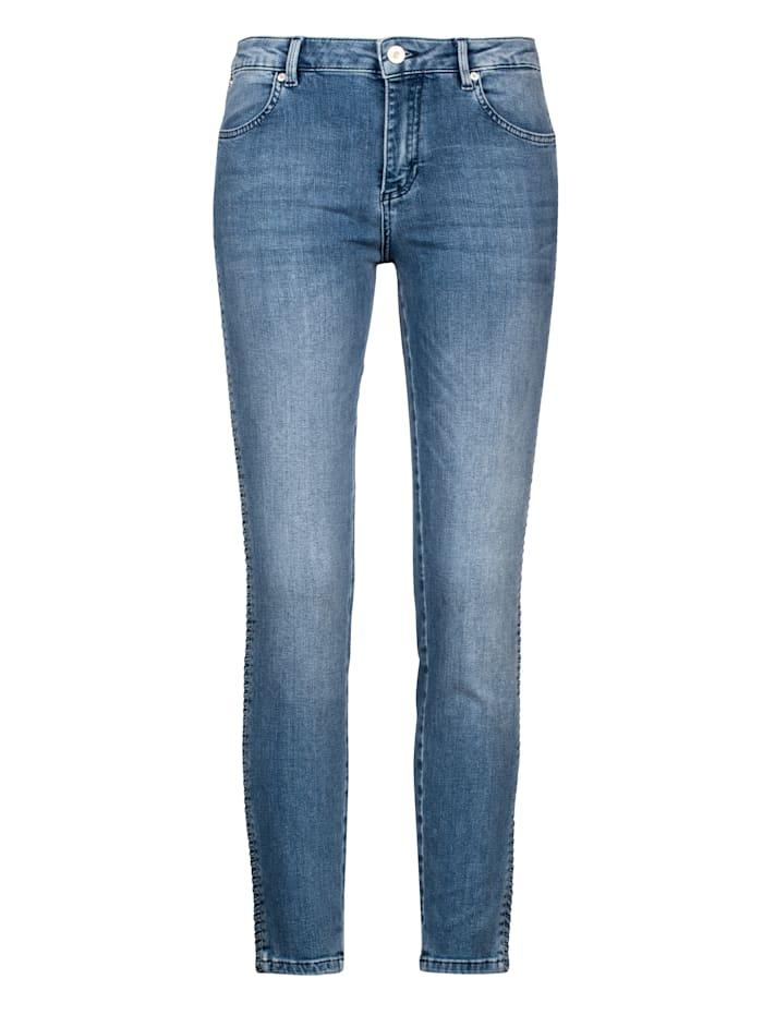 Jeans mit einem Quetschfaltengalon