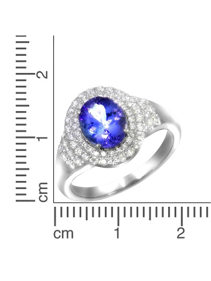 Ring 750/- Gold Tansanit blau Tansanit Glänzend 2,15ct. 750/- Gold