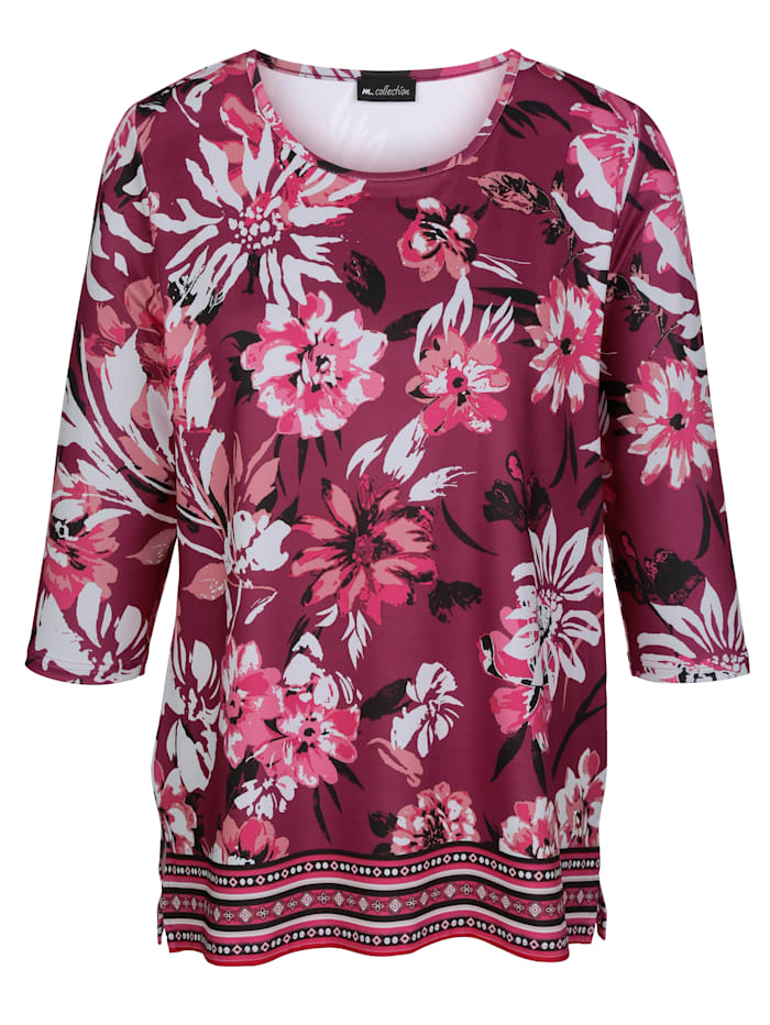 Shirt mit floralem Druckmuster rundum