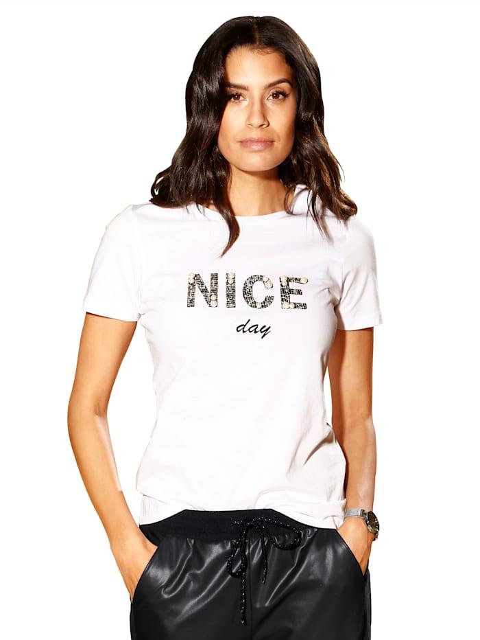 AMY VERMONT Shirt met opschrift, Wit