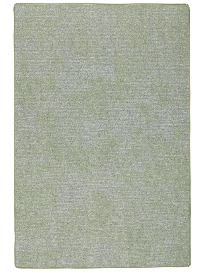 Snapstyle Streifenberber Teppich Lines Meliert, Grün