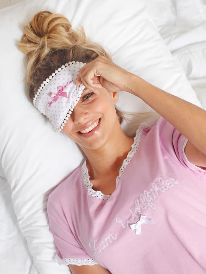 Slaapmasker met satijnen strikje