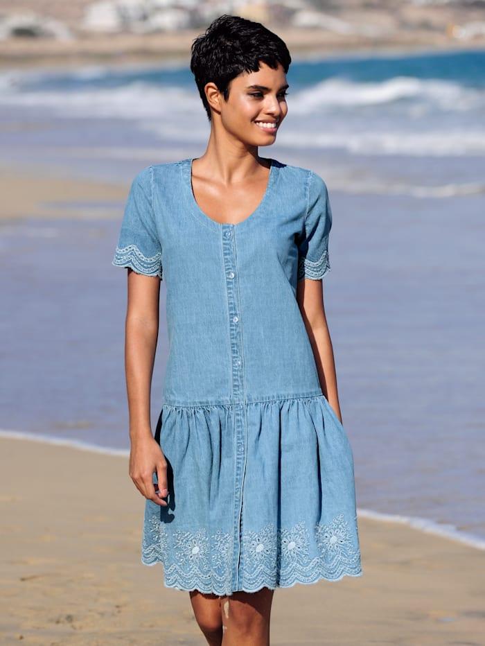 Alba Moda Strandkleid mit Stickerei, Bleached