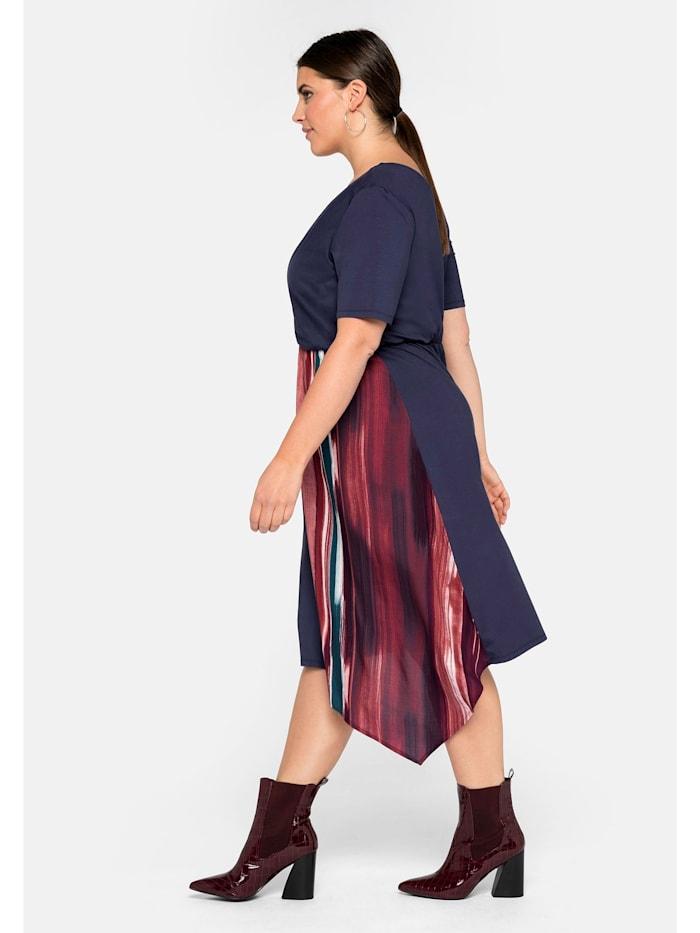 Sheego Jerseykleid mit Zipfeleinsatz