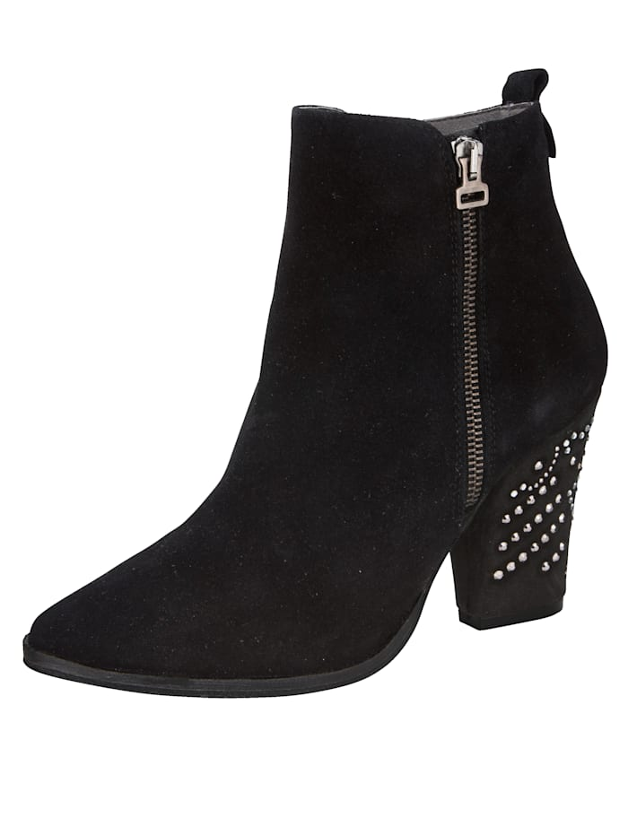 Ankle boots with sparkling gemstones and studs