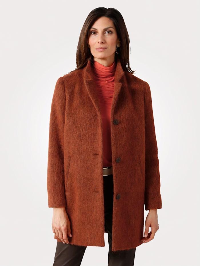 MONA Manteau en laine mélangée, Brique