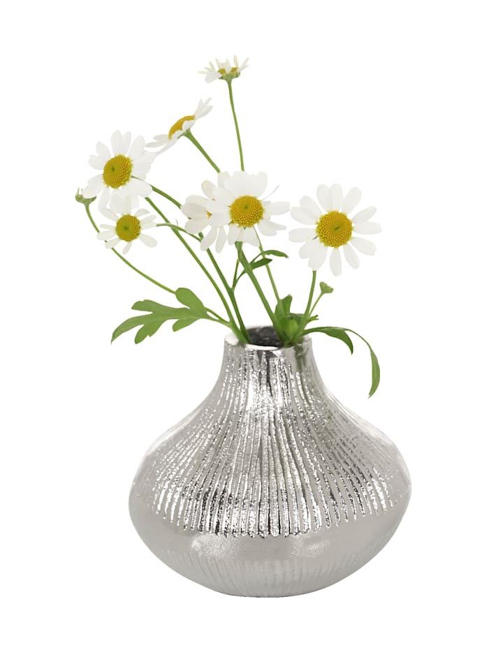 IMPRESSIONEN living Vase, silber